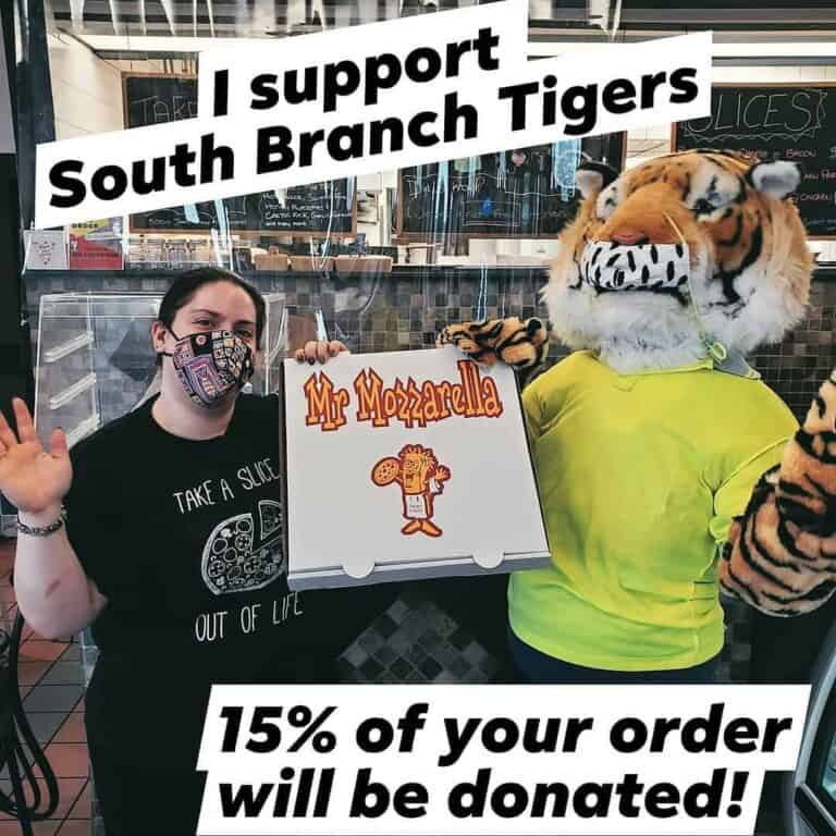 order from Mr. Mozzarella to raise funds for south branch elementary school